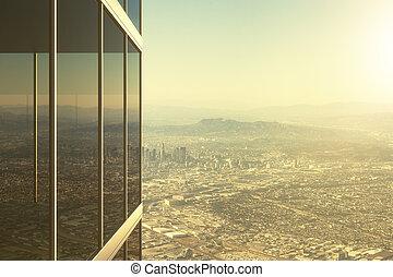vidrio, edificio de oficinas