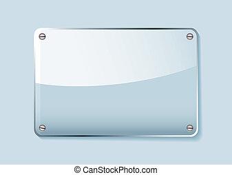 vidrio, etiqueta, nombre