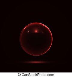 vidrio, Extracto,  vector, esfera, diseño