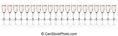 vidrio, flautas champaña