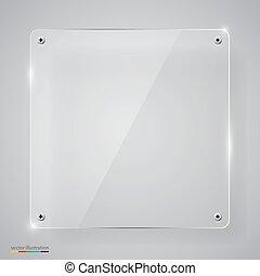 vidrio, framework., transparente, vacío