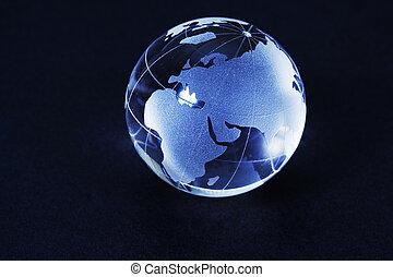 vidrio, globo del mundo