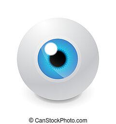 vidrio, globo ocular
