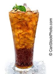 vidrio, hielo,  cola