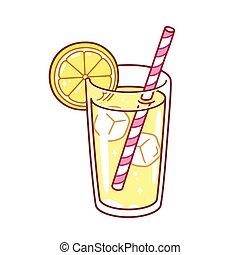 vidrio, limonada