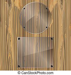 vidrio, madera
