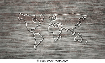 vidrio, mapa del mundo