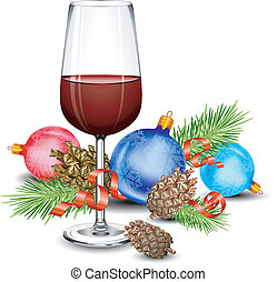 vidrio, navidad, vino