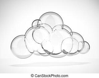 vidrio, nube