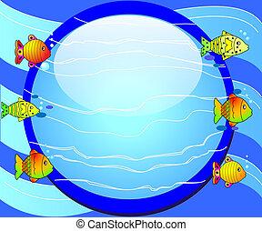 vidrio, pez, redondo, plano de fondo