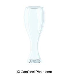 vidrio, plano de fondo, pilsner, blanco, mockup, ...