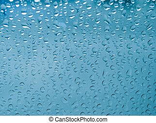 vidrio, primer plano, waterdrop