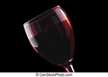 vidrio, rojo, llave baja, vino