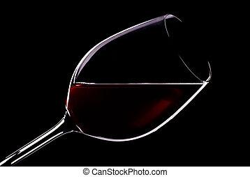 vidrio, rojo, vino
