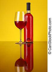 vidrio, rosa, vino