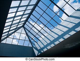 vidrio, techo