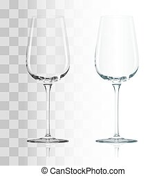 vidrio, transparente, vacío