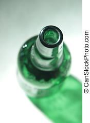 vidrio, vacío, bottle.