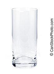 vidrio, vacío, vaso