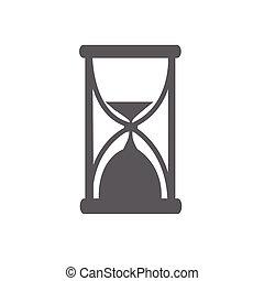 vidrio, vector, hora, ilustración