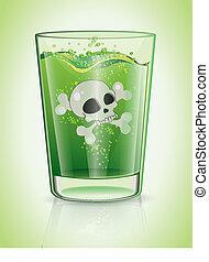 vidrio, veneno