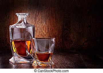 vidrio, whisky escocés