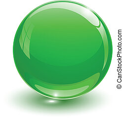 vidrioso, pelota verde