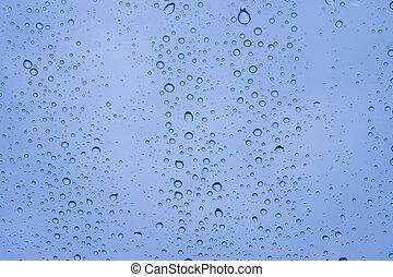 vidro água, close-up, gotas
