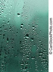 vidro água, gotas, natural