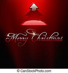 vidro, árvore, natal