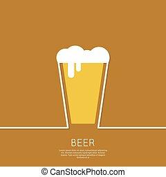 vidro, abstratos, cerveja, fundo