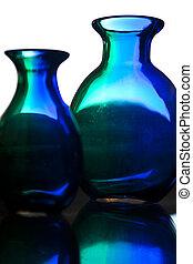 vidro, abstratos, experiência colorida