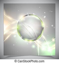 vidro, abstratos, sphere., lustroso, fundo