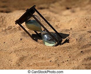 vidro, areia