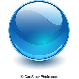 vidro azul, esfera