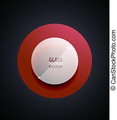 vidro, botão, transparente