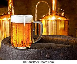 vidro, cerveja, cervejaria