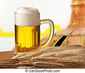 vidro, cerveja, cevada, cervejaria