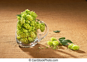 vidro, cerveja, cones, pulo