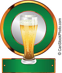 vidro, cerveja, etiqueta