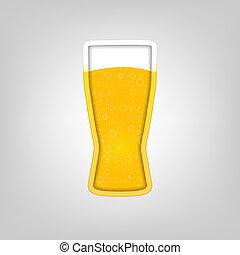 vidro, cerveja, ilustração