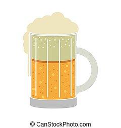 vidro, cerveja, silueta, coloridos