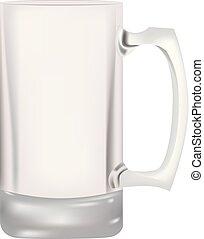 vidro, cerveja, vazio