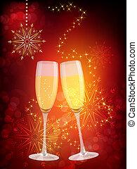 vidro, champanhe