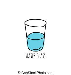 vidro, copo, water.