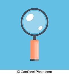 vidro, cor, isolado, ilustração, experiência., vetorial, icon., magnificar