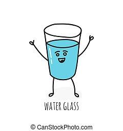 vidro, emocional, engraçado, cup.