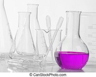 vidro, equipamento laboratório