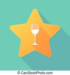 vidro, estrela, ícone