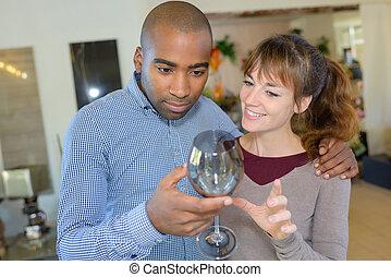 vidro, exposição, vinho